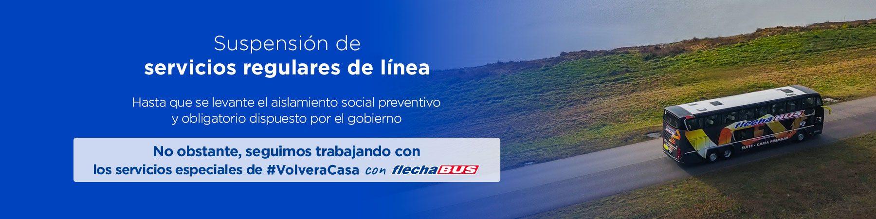 suspension servicios transporte terrestre argentina medidas cuarentena viajar micro flecha bus argentina