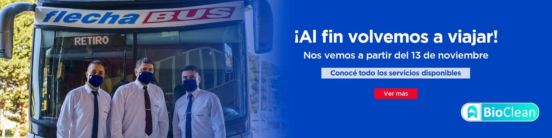 vuelve transporte terrestre viajar micro flecha bus argentina 2020 coronavirus